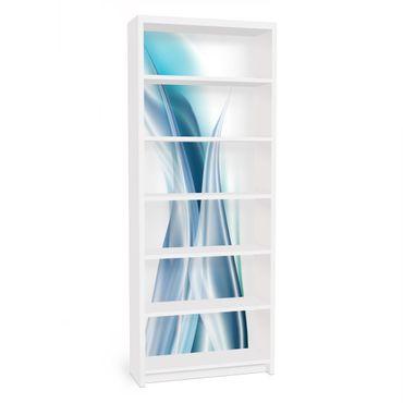 Möbelfolie für IKEA Billy Regal - Klebefolie Blue Dust