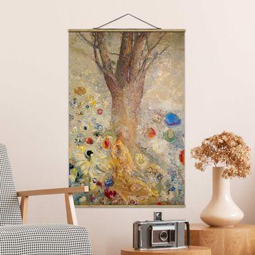 Stoffbild mit Posterleisten - Odilon Redon - Der Buddha - Hochformat 2:3