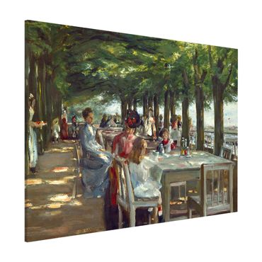 Magnettafel - Max Liebermann - Terrasse des Restaurants Jacob - Memoboard Querformat 3:4