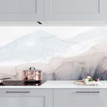 Küchenrückwand - Seeufer mit Bergen I