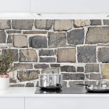 Küchenrückwand - Bruchsteintapete Natursteinwand