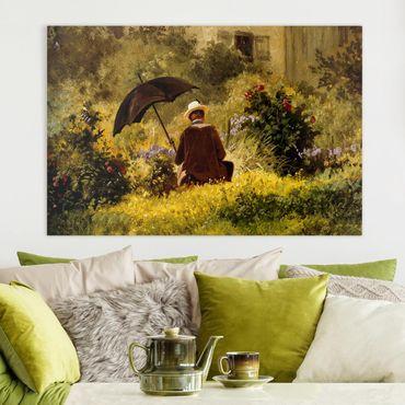 Leinwandbild - Carl Spitzweg - Der Maler im Garten - Querformat 2:3