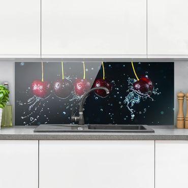 Spritzschutz Glas - Frische Kirschen - Panorama - 5:2