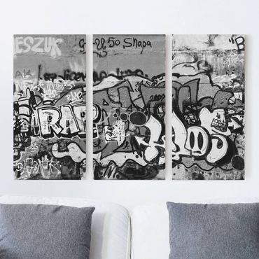 Leinwandbild 3-teilig - Graffiti Art - Hoch 1:2