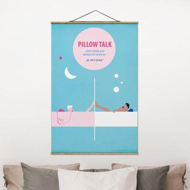 Stoffbild mit Posterleisten - Filmposter Pillowtalk - Hochformat 2:3
