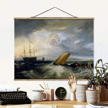 Stoffbild mit Posterleisten - William Turner - Sheerness - Querformat 4:3