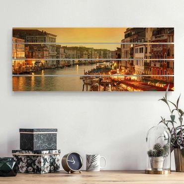 Holzbild - Großer Kanal von Venedig - Querformat 2:5