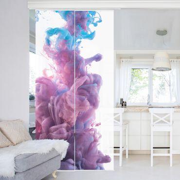 Schiebegardinen Set - Abstrakter flüssiger Farbeffekt - Flächenvorhänge