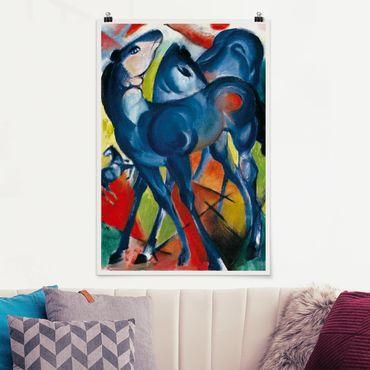 Poster - Franz Marc - Die Blauen Fohlen - Hochformat 3:2
