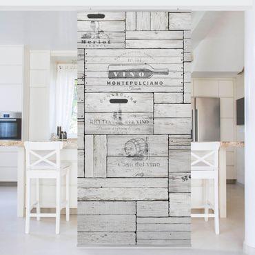 Raumteiler - Shabby Holzkisten 250x120cm