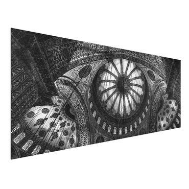 Forex Fine Art Print - Die Kuppeln der blauen Moschee - Panorama