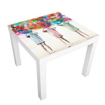 Möbelfolie für IKEA Lack - Klebefolie Brain Explosions