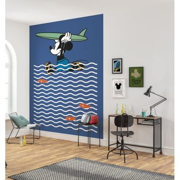 Disney Kindertapete - Mickey gone Surfin' - Komar Fototapete