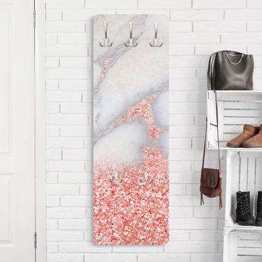 Garderobe - Mamoroptik mit Rosa Konfetti