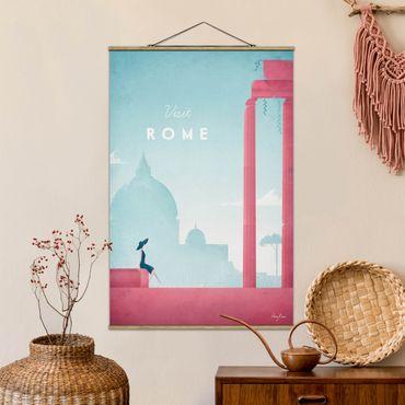 Stoffbild mit Posterleisten - Reiseposter - Rom - Hochformat 3:2