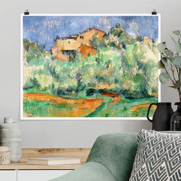 Poster - Paul Cézanne - Haus auf Anhöhe - Querformat 3:4