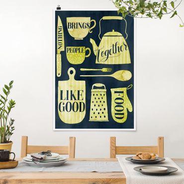 Poster - Seelennahrung - Gutes Essen - Hochformat 3:2