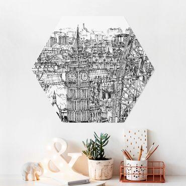 Hexagon Bild Forex - Stadtstudie - London Eye