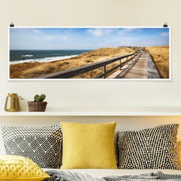 Poster - Nordseespaziergang - Panorama Querformat