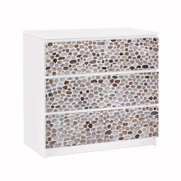 Möbelfolie für IKEA Malm Kommode - Klebefolie Andalusische Steinmauer
