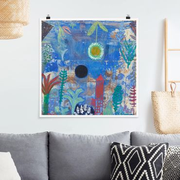 Poster - Paul Klee - Versunkene Landschaft - Quadrat 1:1