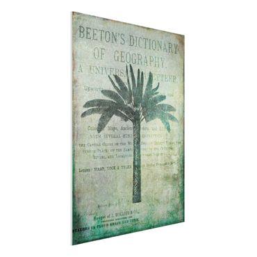 Forex Fine Art Print - Vintage Collage - Antike Palme - Hochformat 4:3