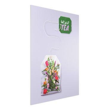 Forex Fine Art Print - Jonas Loose - Blumentee - Hochformat 4:3