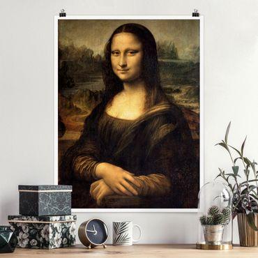 Poster - Leonardo da Vinci - Mona Lisa - Hochformat 3:4