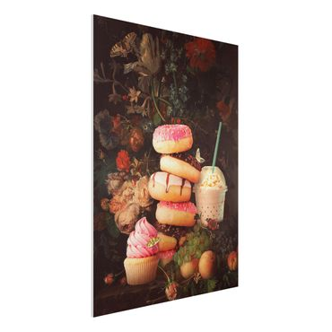Forex Fine Art Print - Jonas Loose - Süßes Blumenbouquet - Hochformat 4:3