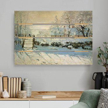 Holzbild - Claude Monet - Die Elster - Querformat 2:3