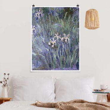Poster - Claude Monet - Schwertlilien - Hochformat 3:4
