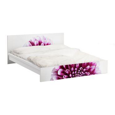 Möbelfolie für IKEA Malm Bett niedrig 180x200cm - Klebefolie Aster