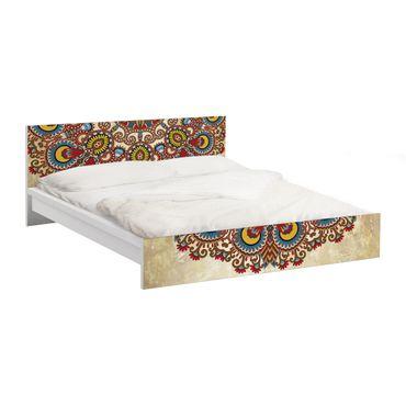 Möbelfolie für IKEA Malm Bett niedrig 140x200cm - Klebefolie Farbiges Mandala