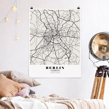 Poster - Stadtplan Berlin - Klassik - Hochformat 3:4