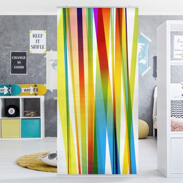 Raumteiler Kinderzimmer - Rainbow Stripes 250x120cm