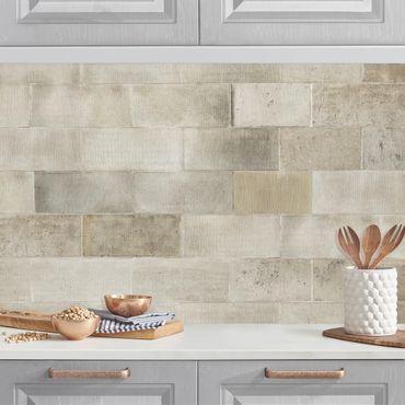 Küchenrückwand - Ziegel Betonwand