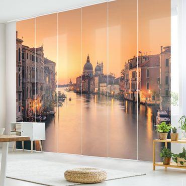 Schiebegardinen Set - Goldenes Venedig - Flächenvorhang
