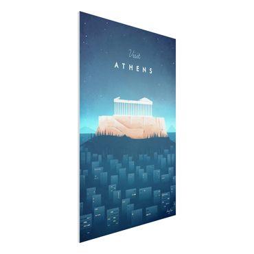 Forex Fine Art Print - Reiseposter - Athen - Hochformat 3:2
