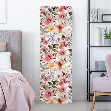 Garderobe - Bunter Blumenmix mit Aquarell