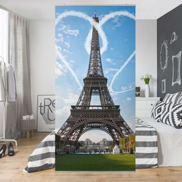 Raumteiler - Paris - City of Love 250x120cm