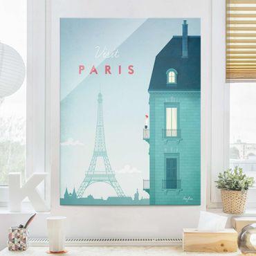 Glasbild - Reiseposter - Paris - Hochformat 4:3
