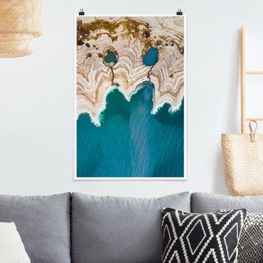 Poster - Lagune in Israel - Hochformat 3:2