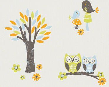 Esprit Strukturtapete Esprit Kids 5 Forest in Blau, Orange, Weiß