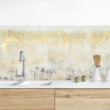 Küchenrückwand - Goldene Farbfelder I