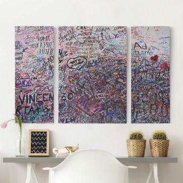 Leinwandbild 3-teilig - Verona - Romeo & Julia - Triptychon