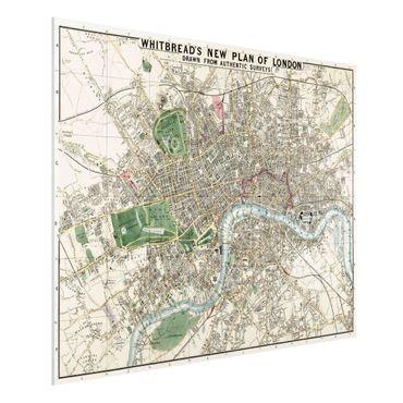 Forex Fine Art Print - Vintage Stadtplan London - Querformat 3:4