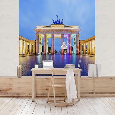 Fototapete Erleuchtetes Brandenburger Tor