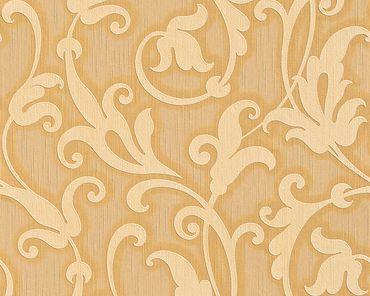 Architects Paper Mustertapete Tessuto in Gelb, Metallic, Orange