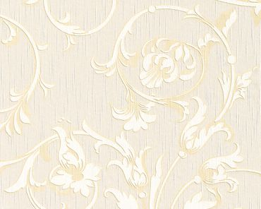 Architects Paper Mustertapete Tessuto in Beige, Creme, Metallic