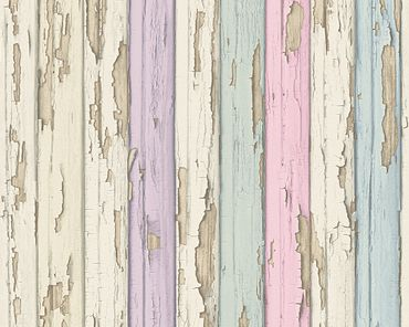 A.S. Création Mustertapete Best of Wood`n Stone 2nd Edition in Beige, Rosa, Lila
